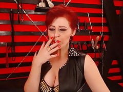 Seductive Red Head Dom Milf Smoking On Cam