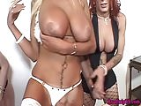 Trans babes jerking their cocks and cumming