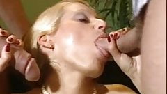 Giving the office girl two cocks. DP and DA.