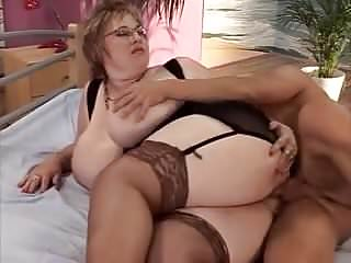 BBW with huge udders fucked by young stud