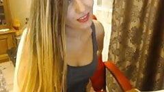 shy webcam girl