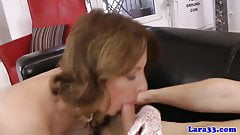 Classy british milf in stockings pussyfucked