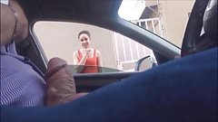 Dickflash - teen LOVES the cock while giving directions
