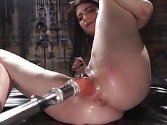 Slender Brunette ALT Girl Gets Her First Taste