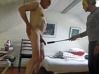 Havy cock whipping with clamps and weights on balls