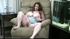 Bbw girl plays and toys