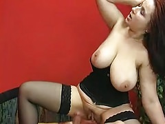 Monster tits with huge ass anal in black stockings Thumbnail
