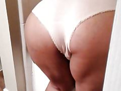 Sexy ass. Wife panties bathroom vouyer