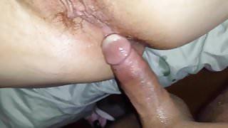 Sliding my cock up her ass