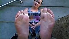 brunette stinky meaty soles