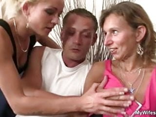 He fucks mother in law and wife watches it