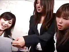 Asian strapon gangbang (censored)