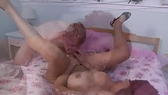Busty TS Sunday Valentina on a man-cock