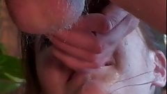Whore Loves Gagging On Cock's Thumb