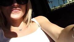 slut blondie squirts in the car