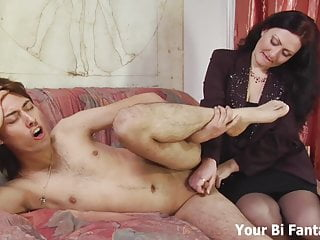 Bend over and let Mommy give you a prostate massage