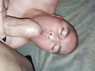 Man sucking Luna's Mexican huge cock