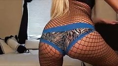 K.C. Booty Shaking - Bodystocking and Blue Panties