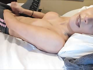 Busty Shemale Angel Cumming On Her Pants