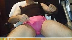 pink panty cum