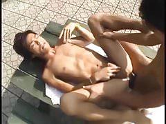Asia Twink Boys Outdoor Bareback Fuck