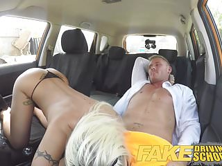 Preview 4 of Fake Driving School Barbie earns her pass with a huge facial