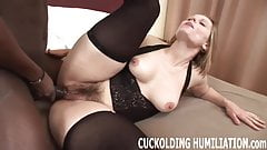Watch while I gag on his massive cock