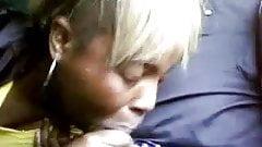 Black Couple Blowjob On The Train