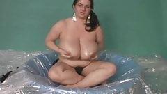 BBW Superstar Maria Moore Oils Up Her Huge Tits