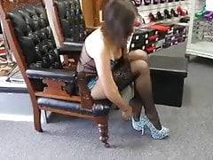 Presentation of sexy lingerie, black stockings on high heels