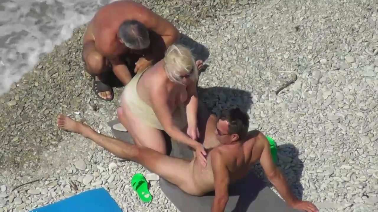 Amateur Mature Couple Beach