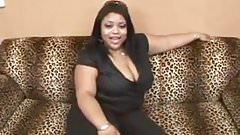 Beautiful black girl in porn casting.
