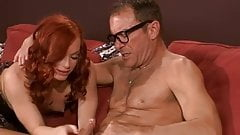 Redhead Babe And The Old Guy...F70