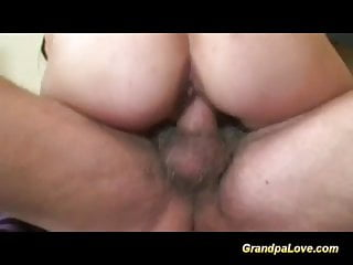 lucky day for horny grandpa