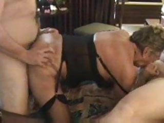 Preview 5 of Granny in Black Stockings Likes a Choice of Cocks