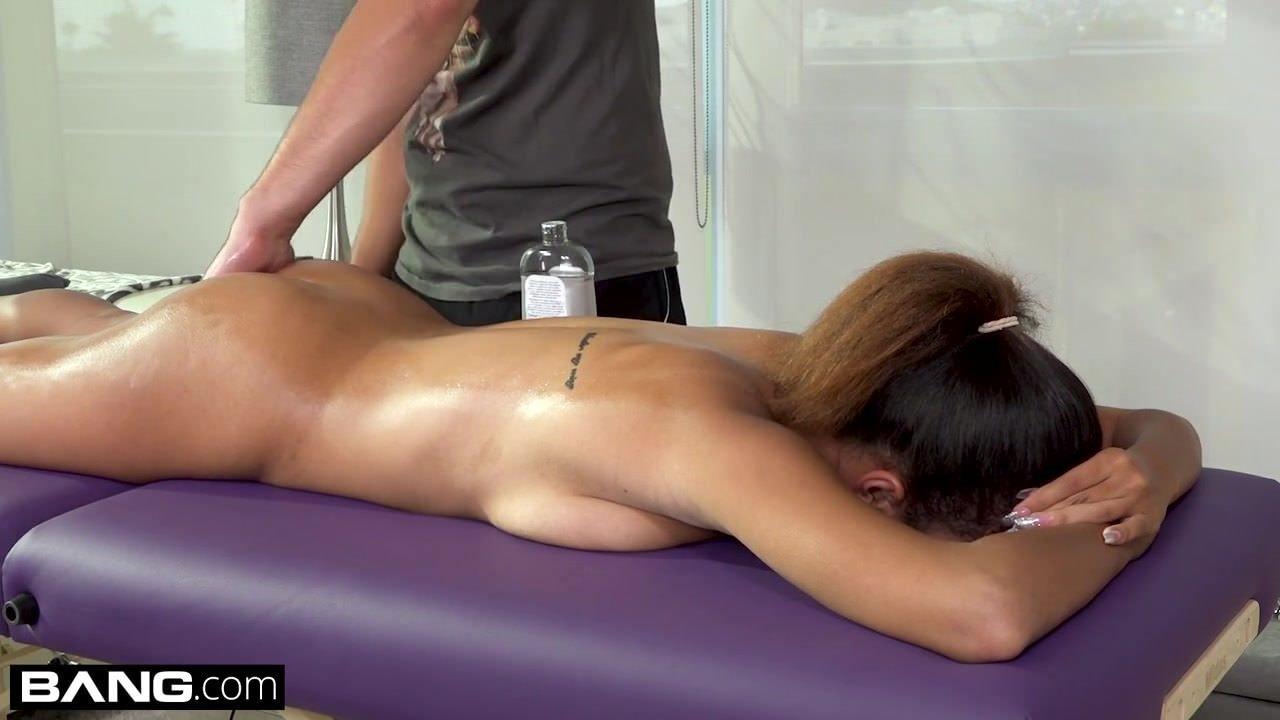 busty brunette masturbating in solarium
