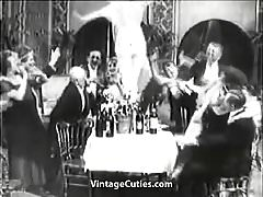 Lady gets Drunk at Her Birthday's Party (1910s Vintage)