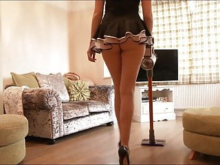 Mistress Who Is Working On Cleaning