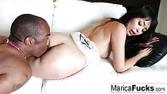 Japanese star Marica gets railed by a black cock