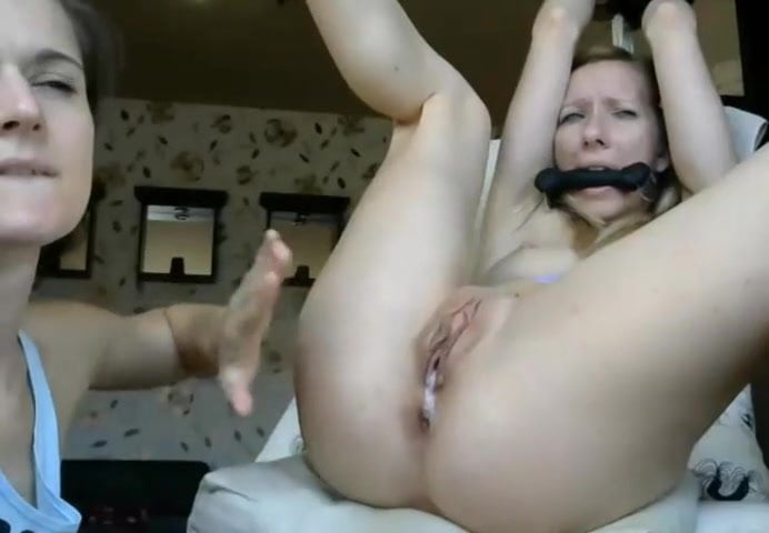 Sexy girl licks her girlfriends ass