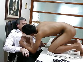 Preview 4 of not daddy Bareback Fucks Asian Boy Joshua