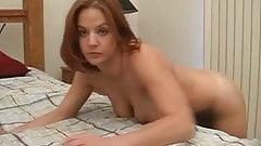 Cute redhead sucks in hotel room