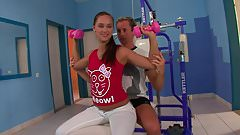 Young fitnessgirl getting a pounding