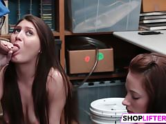 Shoplifting Friends Taken to The Backroom