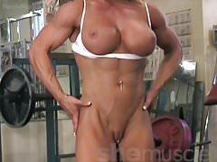Female bodybuilder melissa dettwiller gets naked in the gym Thumbnail
