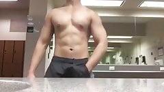 asian hunk JO in public restroom (37'')
