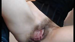 Big clit-furry pussy-anal masturbation