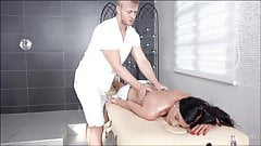 Sweetie gets fucked on massage table