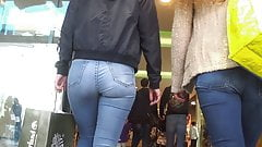 Teen big ass in tight jeans 16