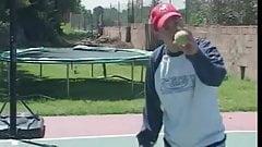 Dirty MILF Angelina Eats The Tennis Coach Ass
